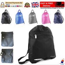 77775b23603c Gym Sack Sports Bag Mens Women Boys Girls Drawstring Backpack School PE  Rucksack