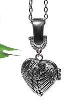 HERZ Medaillon ++ Collier Kette Anhänger Halskette Magnet silber Foto zum Öffnen