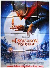 DROLE DE NOEL DE SCROOGE Affiche Cinéma / French Movie Poster JIM CARREY