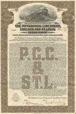 Pittsburgh Cincinnati Chicago and St. Louis Railroad > bond certificate share