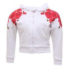 0772S felpa bimba MONNALISA BEBE' PAPAVERI bianco/rosso sweatshirt kid