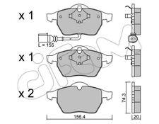 Cifam Bremsbelagsatz Scheibenbremse 8221814 für AUDI SEAT SKODA