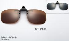 Polarized Clip On Flip up Glasses lens 100% UV Protection Glare Block Sunglasses