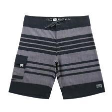 Beautiful Giant Men Summer Striped Beach Swimwear Swim Board Shorts Black / Gray
