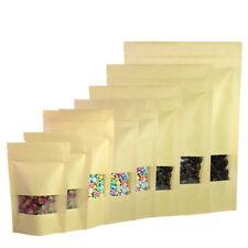 Brown Kraft/Silver/Kraft Stand Up ZipLock Bags w/ Clear Window Variety QTY Sizes