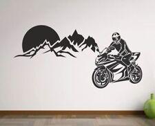 Wandtattoo Wandaufkleber Aufkleber Wohnzimmer Motorrad Berge Alpen Motorrace 96