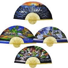 asiatische Deko Dekofächer Wandfächer China Wand Klappfächer Fächer Stoff