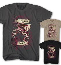 ★Herren T-shirt Targaryen Game of Thrones Fire and Blood Drachen Serie FB1112★
