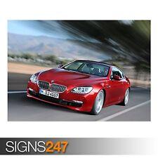 BMW 6 SERIES (AC747) CAR POSTER - Photo Picture Poster Print Art A0 A1 A2 A3 A4