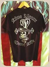 """live your own life"" cobra & skull with helmet biker outlaw black t shirt harley"