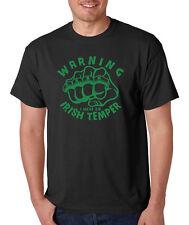 WARNING I HAVE AN IRISH TEMPER Saint Patrick's Day St party celtic T-Shirt