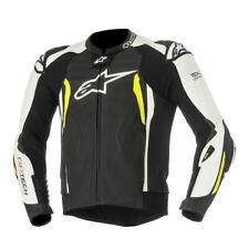 Alpinestars GP Tech V2 Mens Leather Jacket Black/White/Yellow