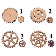 Steampunk Cog / Gears Craft Shapes, Embellishments, Tag, Decoration.2mm MDF Wood