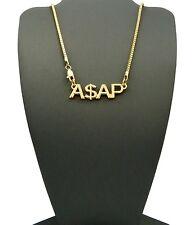 "New Celebrity Style 'ASAP' Rocky Pendant &2mm/24"" Box Chain Necklace XSP404BX"