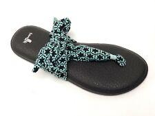 Sanuk Women's YOGA SLINGED UP PRINTS EGGSHELL TILE SWS10575 Casual Flip Flop