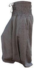 New UNisex Plain Hippie Harem Aladdin Baggy Loose Fit Genie Gypsy Trouser Pants