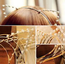 Lady Fashion Women Girls Cat Ears Pearl Rabbit Hairband Headband Cute Lovely fo