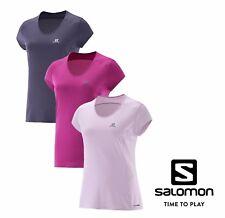 Salomon Womens Athletic Sports Comet Plus T-Shirt Short Sleeve Scoop Neck NEW