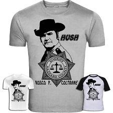 "Il Dukes of Hazzard ispirato ROSCO P. COLTRANE ""HUSH"" T-shirt screenprinted"