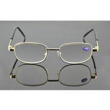 Gold Metal Vintage Full Rim Reading Glasses Presbyopic +450 +500 +550 +600