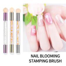 Ombre Nail Art Sponge Glitter Powder Picking Dotting Gradient Pen Brush 2 Way