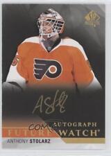 2015-16 SP Authentic #262 Anthony Stolarz Philadelphia Flyers Auto Hockey Card