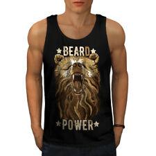 BESTIA Hipster Bear Animal Uomini tank top NUOVA | wellcoda