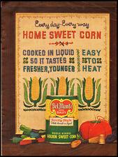 Del Monte Whole Kernel Golden Sweet Corn Vintage Ad 1962 (111811)