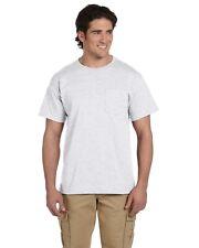 Jerzees T-Shirt Tee Men's Short Sleeve Heavyweight Blend Pocket Solid Basic 29P