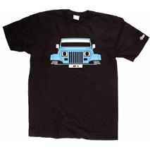 Custom htees T-Shirt-Jeep Wrangler YJ TJ 1987-2006, Pick Auto Farbe & Platte