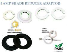 Lamp shade Adaptor Reducer Ring Converts Euro Shade Size To UK Fitting