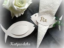 Napkins Bracket place card table decoration communion Fish