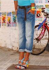 Arizona Jeans Boyfriend Kurz-Gr.18-19 Damen Capri Hose Stretch 7/8 Blue Used NEU