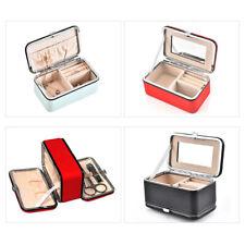 Portable Womens Travel Jewelry Box Organizer Jewellery Ornaments Case Storage
