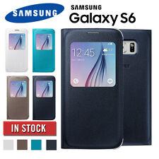 Genuine Original Samsung Galaxy S6 S View Flip Cover Case Black Gold white Blue
