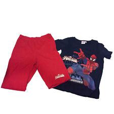 SPIDERMAN pigiama completino corto t-shirt +pantaloncino in cotone rosso bambino