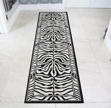 Runner Black White Safari Hide Zebra Skin Animal Print Nature Rug African Mat