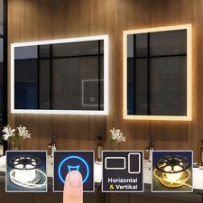 Badspiegel mit LED Beleuchtung Touch Wandspiegel Badezimmerspiegel Lichtspiegel