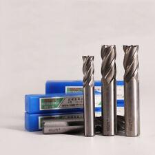HSS CNC Straight End Mill 4 Flute Milling End Cutter Drill Bit 2-40mm