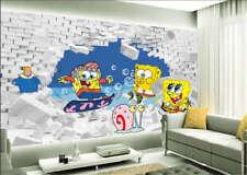 Piquant Spongebob 3D Full Wall Mural Photo Wallpaper Printing Home Kids Decor
