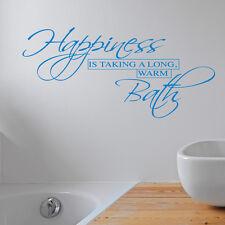 HAPPINESS IS AUTOCOLLANT MURAL SALLE DE BAIN AUTOCOLLANT ART CITATION