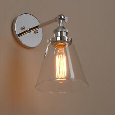 Permo lampe à filament cuvée lampe murale verre clair à l'ombre e27 ombre verre