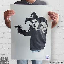 Banksy Insane Clown / Giullare Stencil riusabile MURO ARTIGIANATO ideali