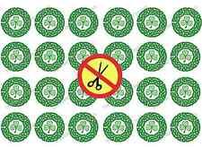 ST Patrick's Day celtique GAUFRETTE RIZ comestibles gâteau papier Cupcake toppers pré couper