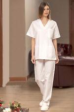 Completo Casacca + Pantaloni Sanitaria Donna Medico Estetista Infermiera Divisa