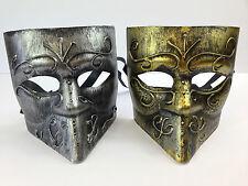 Para Hombre Bauta Veneciano Máscara Plata Oro De Metal Estilo Masquerade Disfraces Carnaval