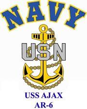 USS AJAX  AR-6* REPAIR SHIP*  NAVY W/ ANCHOR* SHIRT