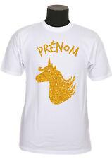 Tee shirt enfant fille licorne personnalise avec prénom au choix réf 179