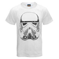 Para Hombre Star Wars Stormtrooper Cabeza Camiseta Blanca-Tamaño Pequeño-X Grande