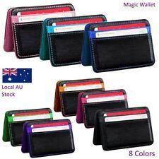 Fashion Patchwork Mini Wallet Women Neutral Magic Bifold PU Leather Card Holder